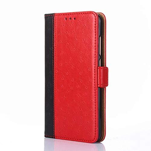 GOGME Cover per Vivo Y70 Cover a Portafoglio, Pelle Premium PU Doppia Chiusura Magnetica a Scatto Flip Custodia con [Supporto di Stand] [Carte Slot], Rosso