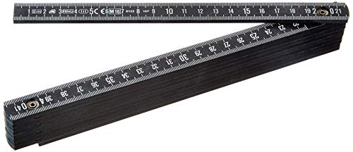 Metrica Glasfaser-Massstab 2 m, schwarz, 18030