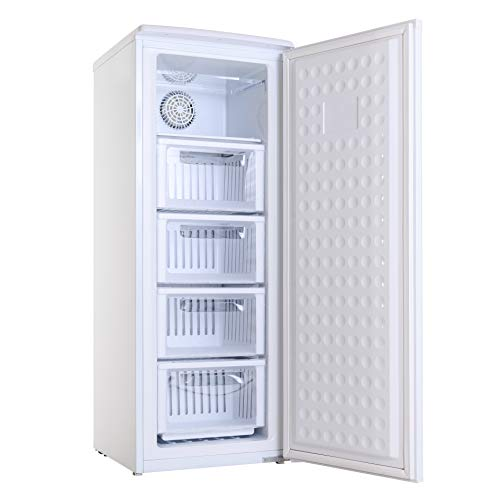 ALLEGiA(アレジア) 冷凍庫 (107L) 前開き 4段引き出し【ファン式・霜取り不要・省エネ】 AR-BD120-NW