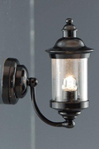 Creal 2223 Applique Lanterne LED avec Batterie argent 1:12 pour maison de poupée