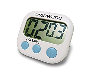 Wrenwane Timer (Upgraded), Big Digits, Loud Alarm, Magnetic Backing