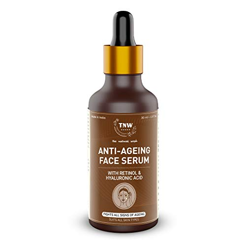 TNW-THE NATURAL WASH Retinol Serum for Face with Hyaluronic acid for Spotless Glowing Skin Help Reducing Wrinkles & Fines Lines| Made in India Anti-aging Serum (No Chemical No alcohol) 30ml