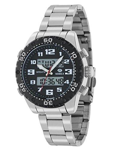 Marea Jungen Analog-Digital Quarz Smart Watch Armbanduhr mit Edelstahl Armband B35286/10