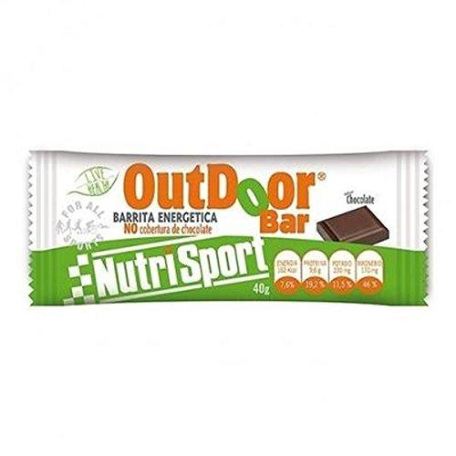 Barrita Energética Outdoor Chocolate 20 unidades de Nutrisport