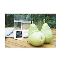 ドリテック (まとめ) 温湿度計 熱中症 インフルエンザの危険度を表示する 小さいデジタル温湿度計 ホワイト O-257WT[×5セット]