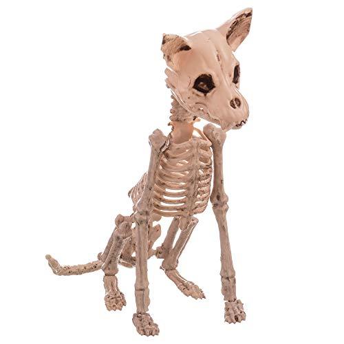 Esqueleto de Perro de Halloween Beige de 28x48x11 cm - LOLAhome