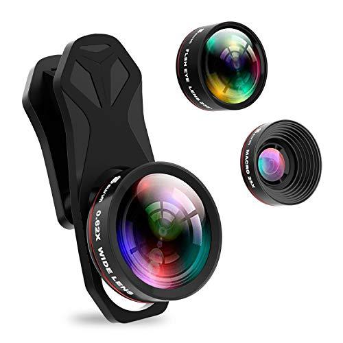 Selvim Kit Obbiettivi per Smartphone, Lente Macro 25x,...