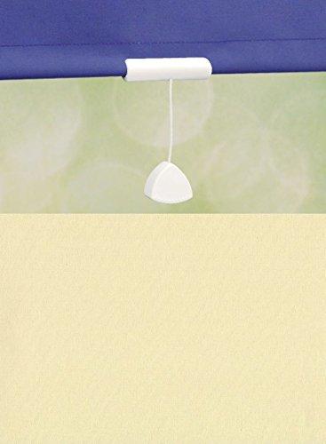 deko-raumshop Springrollo Mittelzugrollo Schnapprollo Rollo Vanille Creme hell Breite 60-240 cm Länge 180 cm Blickdicht Lichtdurchlässig Sonnenschutz Sichtschutz (242 x 180 cm)