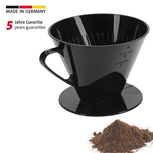 Westmark Kaffeefilter/Filterhalter, Für bis zu 4 Tassen Kaffee, Filtergröße 4, Kunststoff, Four, Schwarz, 24442261