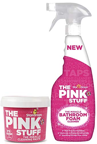 Stardrops - The Pink Stuff - The Miracle Cleaning Paste and Bathroom Foam Cleaner Bundle ( 1 Cleaning Paste, 1 Bathroom Foam Cleaner)