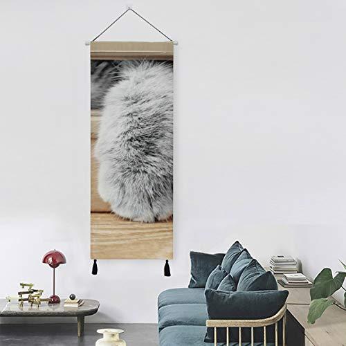 N\A Nette Katze im Karton Wandmalerei Kinder Küche Dekorationen Wandkunst 13 Zoll Breite X 47 Zoll Lange Moderne Wohnkultur Wandkunst Dekor Moderne Leinwand drucken Kinder