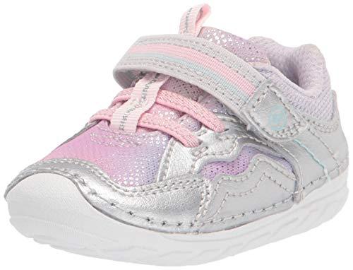 Stride Rite baby girls Soft Motion Kylo Sneaker, Silver/Multi, 3.5 Infant US