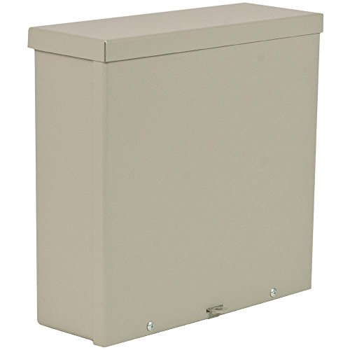 """Wiegmann RSC242408 RSC-Series NEMA 1/3R Wall-Mount Enclosure with Lift-Off Screw Cover and Knockouts, Carbon Steel, 24"""" x 24"""" x 8"""""""