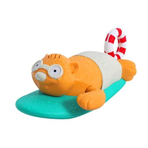 TIREOW Kinder Bad Spiel Badewanne Automatisches Schwimmendes Spielzeug, Kunststoff Tierform Uhrwerk Schwimmen Spiel Spielzeug Wasserspielzeug (A)