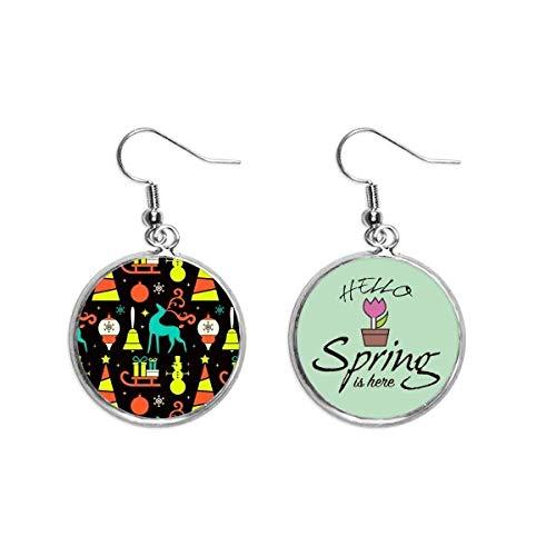 Boucles d oreilles pendantes en forme de luge d élan - Pour le printemps