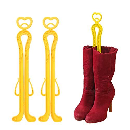 ULTECHNOVO Kunststoff Boot Shaper 35Cm Lange Stiefel Shaper Schuh Veranstalter Trage Schuhe Unterstützer Standhalter Kleiderbügel für Stiefel Schuhe Lagerung Veranstalter 4St