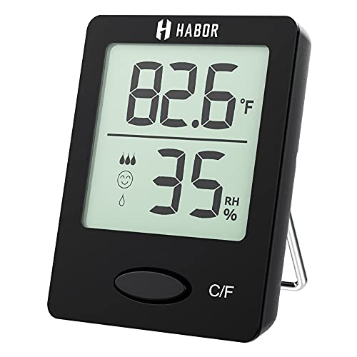 Habor Room Thermometer, [Mini Style] Humidity Meter, Hygrometer Thermometer...