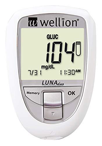 Wellion LUNA Duo Blutzuckermessgerät Set weiß mg/dl