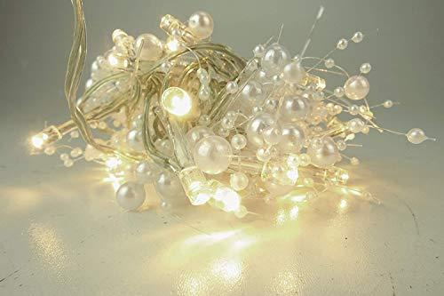 Toyland 30 batteriebetriebene warmweiße LED-Lichterketten mit Perlenperlen - Weihnachtsdekoration