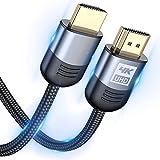 Cable HDMI 4K - Sweguard Cable HDMI 2.0 de Alta Velocidad Trenzado de Nailon 4K@60Hz a 18Gbps Cable HDMI Compatible 3D, Función Ethernet, Video 4K UHD 2160p, HD 1080p- Gris (15M, gris)