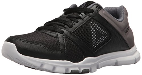 Reebok Women's Yourflex Trainette 10 Mt Cross Trainer, Black/White/Alloy, 8 M US
