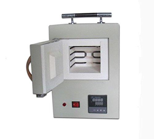 MXBAOHENG Horno de muffle de fibra cerámica Laboratorio cerrado Pequeño horno eléctrico El programa integrado de control de alta temperatura horno 2KW 165×120×105MM (220V)