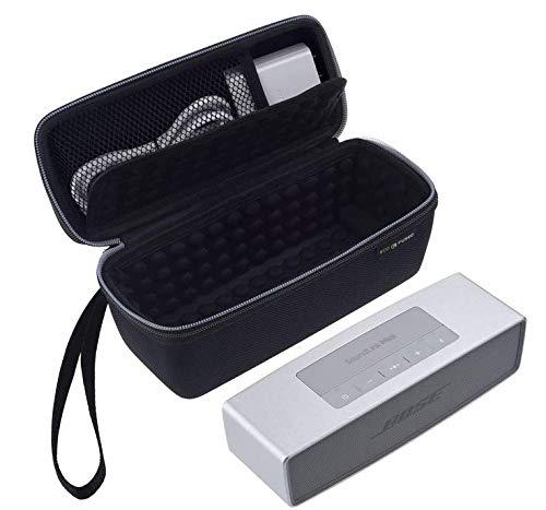 Eco-Fused Tragetasche Kompatibel mit Bose Soundlink Mini 1 und 2 - Schutz und Transport - Luftgepolsterte Innenausstattung für Lautsprecher und Dock - Mesh-Tasche - Trageschlaufe