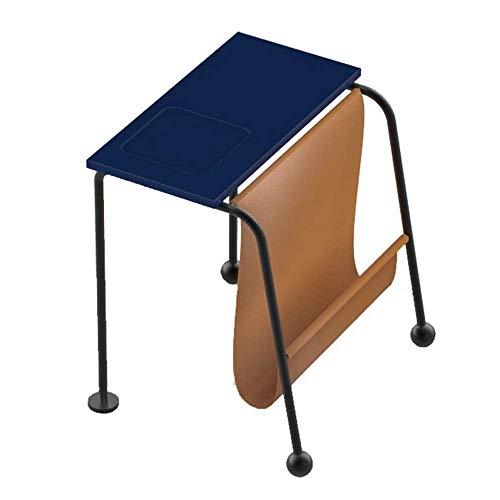 TQ Multi-Fonctionnel en Cuir Art Nordique Designer Chevet canapé côté Petit café 46 * 50 * 43,2 cm