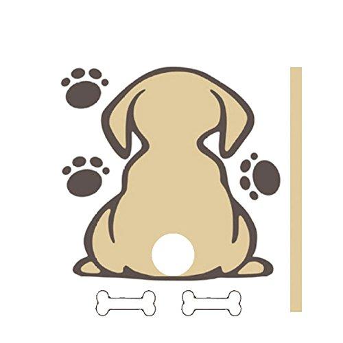 Hanbaili Auto-Heckscheiben-Aufkleber Auto-Scheibenwischer reflektierende Hund Aufkleber süß