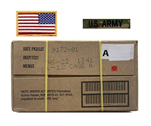 MRE, Military Cases with American Flag Patch and Multicam US Army Tape – 06/2022 Inspection or Later (A Case)