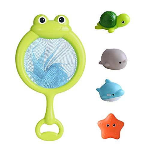 Ishine Bebé Baño Animal Juguete Inducción Luz Flotante Juguete de Agua Red de Pesca Juguetes Juguetes de Baño para Niños de 4 a 8 años