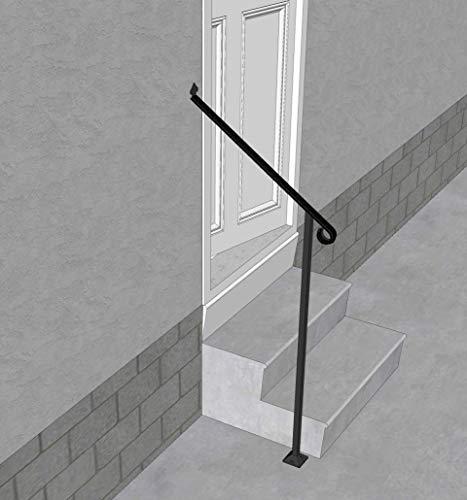 Iron X Handrail Door #2-20' Wall & Floor Mounted Handrail