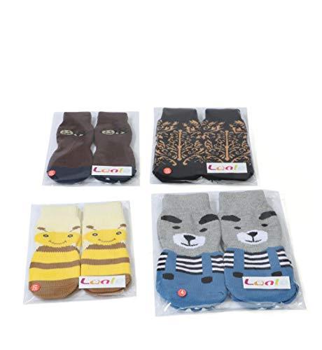 DULING Chaussettes pour Chien,Chaussettes en Coton pour Animaux de Compagnie,Couvre-Pied pour Chien,Couvre-Pattes en Tricot 2 pièces,Panda Gris-Bleu,4XL
