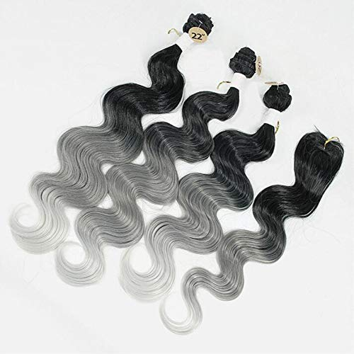 Parrucca Europe And The United States Wig Long Curly Hair Three-Color Gradient Chemical Fiber Hair Curtain Snake Song Three-Piece Set Plus Head Spin