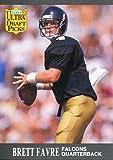 Brett Favre Unsigned 1991 Fleer Rookie Card -...