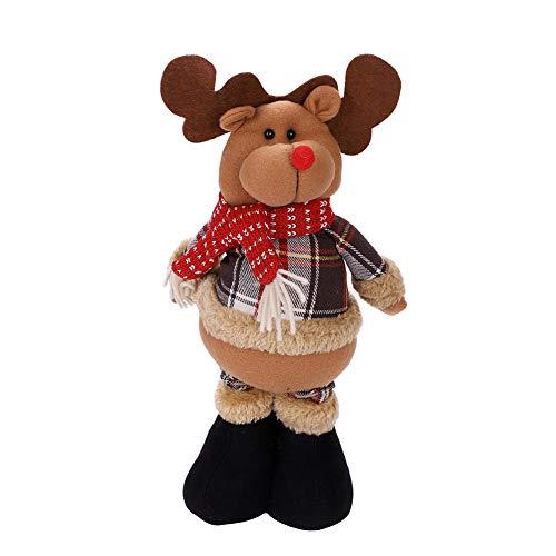objetos adornos Navidad juguete Poupee de Navidad Papá Noel Muñeco Nieve Reno télescopable niños regalo de...