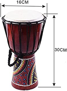 Djembe Drummer Percussion 6 inch Classic Painting Wooden African Style Hand Drum For Sale membranophone