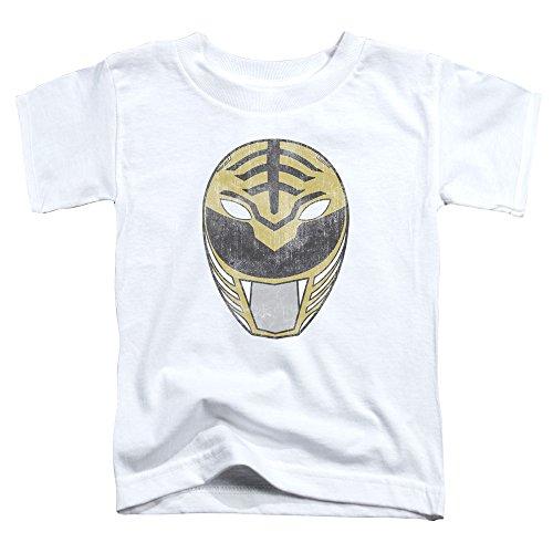 Power Rangers - - Los niños pequeños Ranger Blanco Máscara de la camiseta