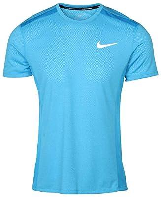 Nike Men's Dri-Fit Breathe Miler Running Top (Small, Equator Blue)