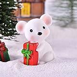 ToDIDAF Puppenhaus Zubehör Mini süße Maus mit rotem Schal 1:12 Puppenhaus Miniatur Wohnmöbel,...