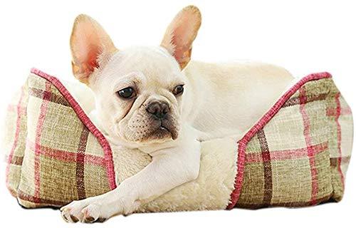 YLCJ Universal Four Seasons huisdiermand voor huisdieren, open nestkast voor huisdieren, afneembaar, wasbaar, 47×42×17cm, Beige