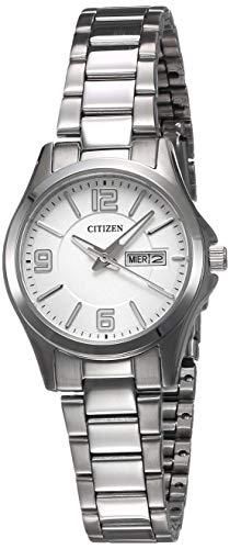CITIZEN EQ0591-56A. Reloj de mujer, de cuarzo, con caja y brazalete de acero, y cristal mineral.