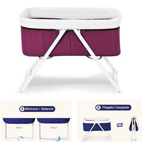 Star Ibaby Pouch - Cuna de bebe plegable, color Purple