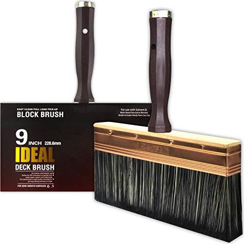 KingOrigin 9 inch Deck Stain Brush Work with Stain,Paint and Sealers,Wall Brush,Paint Brush,Clean Brush