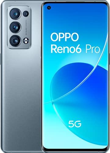 Reno 6 Pro 5G Lunar Grey - AMOLED FHD+ 6,55' 90Hz, Quad-camara 50MP+16MP+13MP+2MP, Snapdragon 870 5G, 12GB RAM + 256GB almacenamiento, carga rápida 65W y 4500mAh [Versión ES/PT]