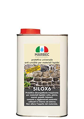 Marbec - SILOX 6 1LT   Protettivo Universale Anti-umidità per Materiali lapidei