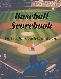 Baseball Scorebook: baseball scorekeeper book | Softball Score Record Book | Gift for Coach & Baseball Fans | wall score -...