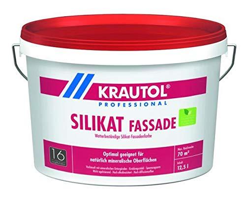 Krautol Silikat F, weiß, matt, 5 Liter, mineralische Beschichtung für natürliche Fassaden