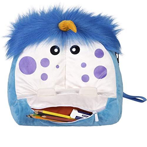 Bookmonster Deluxe Mammo - Lesekissen - blau/weiß: mit Taschen und...