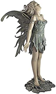 Design Toscano CL4571 Spirit of The Wind Fairy Outdoor Garden Statue, 27 Inch, Two Tone Stone